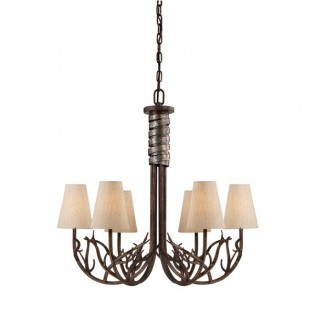 Rustic Chandelier Brambles (6 lights)