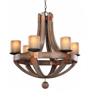 Rustic Chandelier Olaf (6 lights)