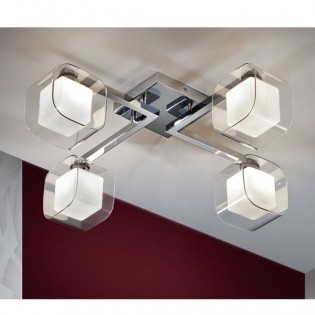 Ceiling flush light Cube (4 lights)