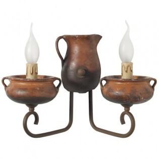 Wall Light Pitcher and Pot (2 lights)