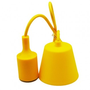 Lampholder, cable and canopy silicone (12 colours)
