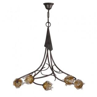 Rustic lamp Faura (5 lights)