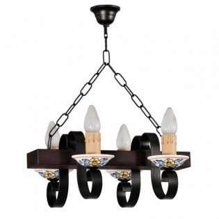 Rustic Chandelier Arpe (4 lights)