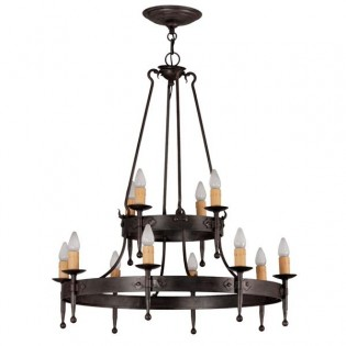 Rustic lamp Hipa (12 lights)