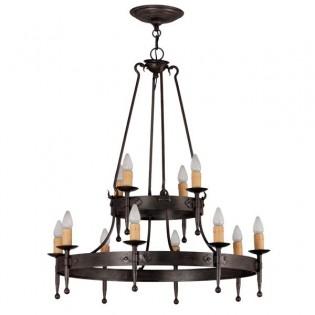 Rustic lamp Hipa (12 lights)