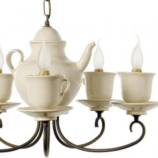 Ceiling Light Teapot-cups (3 lights)