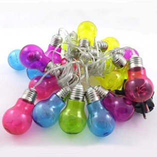 String lights Led 20 Light Bulbs colours (3W)