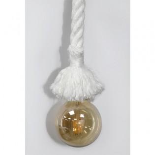 Lámpara cuerda-soga (nylon blanco)