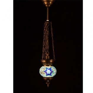Turkish Pendant Lamp KolyeIII13 (blue)