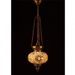 Turkish Pendant Lamp KolyeIII16 (yellow)