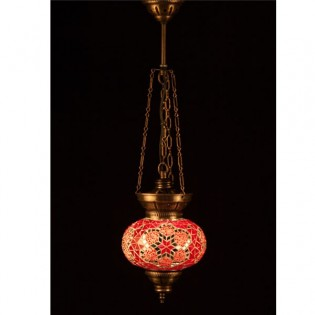 Turkish Pendant Lamp KolyeIII16 (red)