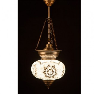 Turkish Pendant Lamp KolyeIII25 (white)