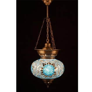 Turkish Pendant Lamp KolyeIII25 (turquoise)