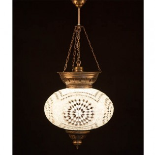 Turkish Pendant Lamp KolyeIII34 (white)