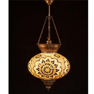 Turkish Pendant Lamp KolyeIII34 (yellow)