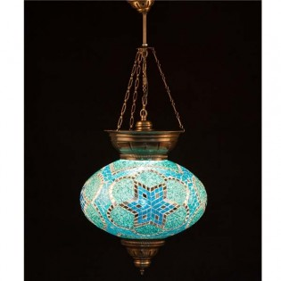Turkish Pendant Lamp KolyeIII34 (turquoise)