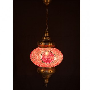 Turkish Pendant Lamp KolyeI90 (red)