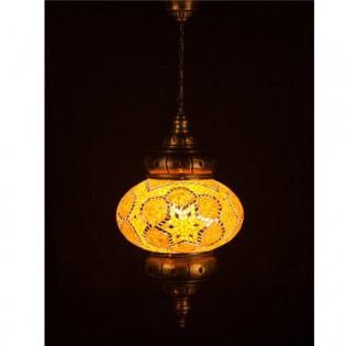 Turkish Pendant Lamp KolyeI90 (yellow)