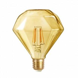 Light bulb LED Diamond caramel (6W-warm)