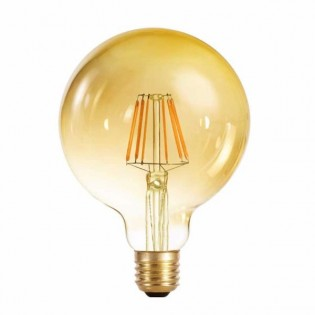 Light bulb LED Globe 95 caramel (6W-warm)