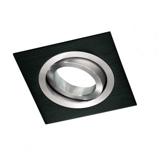 RRecessed Downlight CLASSIC square black. Wonderlamp