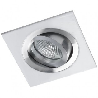 Recessed Downlight CLASSIC square aluminium white . Wonderlamp