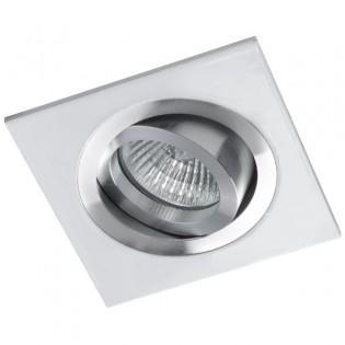 Recessed Downlight CLASSIC square aluminium white . Wonderlamp