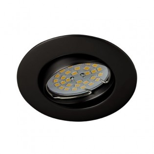 Recessed Downlight BASIC round tiltable black. Wonderlamp
