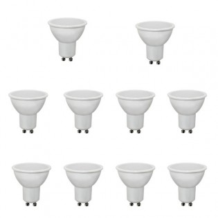 Pack of 10 LED Bulb GU10. 4W. 300Lm. Wonderlamp