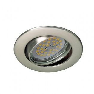 Zar - Recessed Spotlight Kit, Lampholder and Light bulb, colour chrome