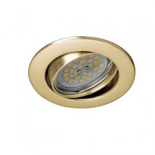 Zar - Recessed Spotlight Kit, Lampholder and Light bulb, colour Gold