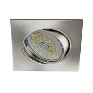 Eclo - Recessed Spotlight Kit, tilting, lamp holders and Light bulb, colour nickel