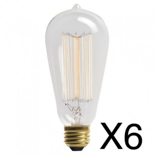 Light Bulb Edison 1910 (pack 6 pc.)