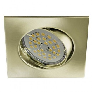 Eclo - Recessed Spotlight Kit, tilting, lamp holders and Light bulb, colour old gold