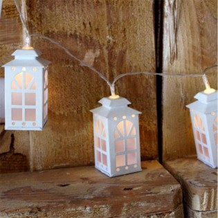 String lights Led 10 lanterns (3 x AA)