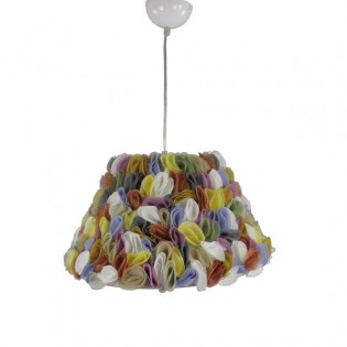 Ceiling light Petals multicolored