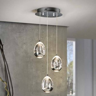 3-Light LED Cluster Pendant LED Rocio (15W)