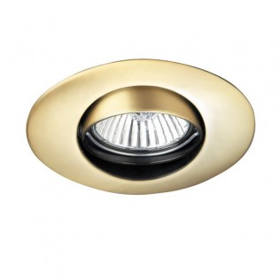 Recessed light oval Satin Gold (tilting)