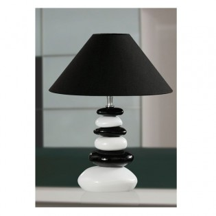 Table Lamp Stones white and black