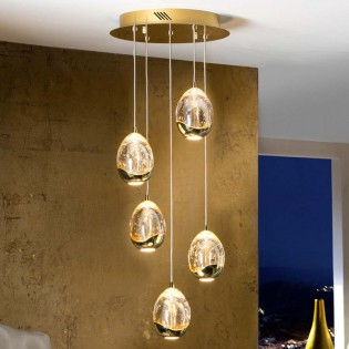 5-Light LED Cluster Pendant Rocio (25W)