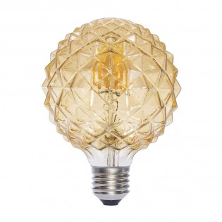 Bombilla Decorativa LED E27 Globo Ámbar (6W)