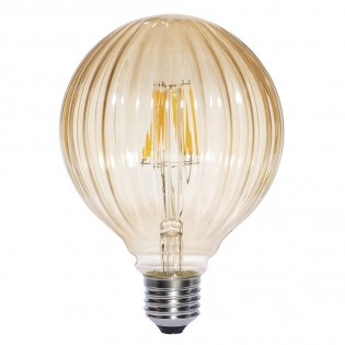 Bombilla LED Decorativa Globo Ámbar (6W)