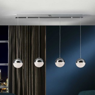 LED Pendant track light Sphere (19.2W)