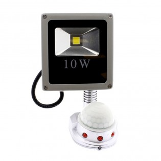 LED Floodlight outdoor with motion sensor 6000K (10W)
