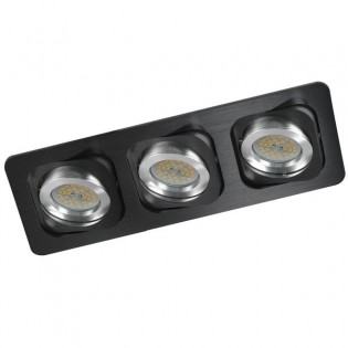 Kit Recessed light DOUBLE black (3 lights)
