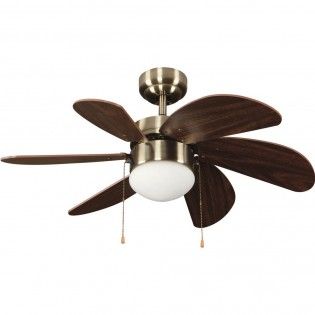 Ceiling fan with light Basic Brown