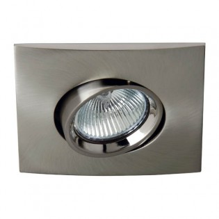 Kit Recessed light TERRA nickel (squared)