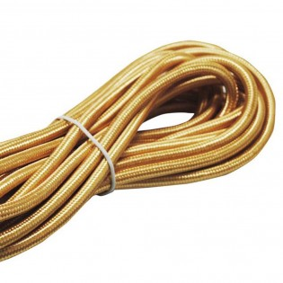 Cable textil gold-plated