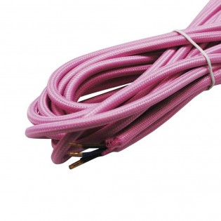 Cable textil pink