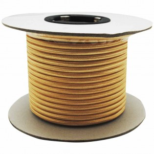 Cable roll textil gold-plated